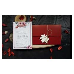 Baylino 70805 Hasır İpli ve Çiçek Desenli Davetiye